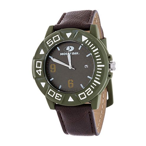 Mossy Oak Mens Brown Bracelet Watch-Mow080gr-Br