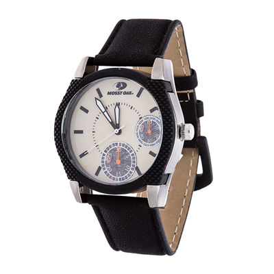 Mossy Oak Mens Black Bracelet Watch-Mow081ox-Bk