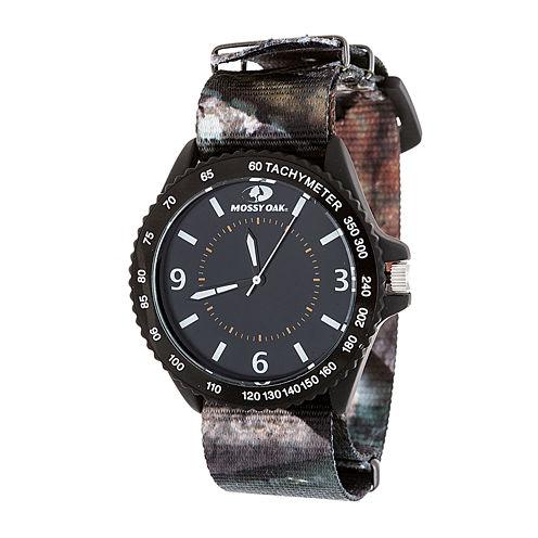 Mossy Oak Mens Black Bracelet Watch-Mow086bk