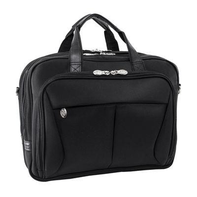 """McKleinUSA Pearson 17"""" Nylon Expandable Double Compartment Laptop Briefcase"""