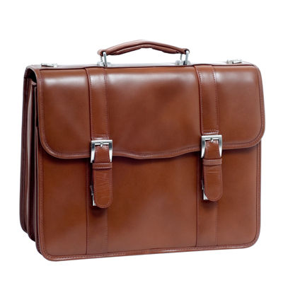 "McKleinUSA Flournoy 15.4"" Leather Double Compartment Laptop Briefcase"