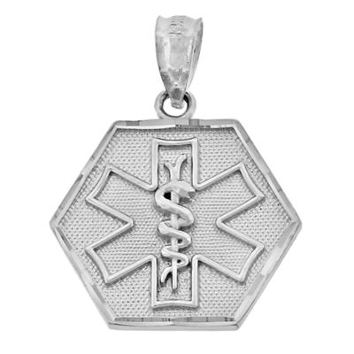 Sterling Silver Medical ID Charm Pendant