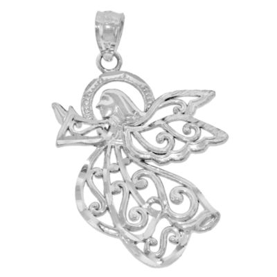 Sterling Silver Angel Charm Pendant