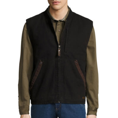 Smith's Workwear Sherpa Lined Duck Canvas Vest-Regular