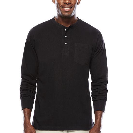 Smith's Workwear Long-Sleeve Pocket Gusset Henley