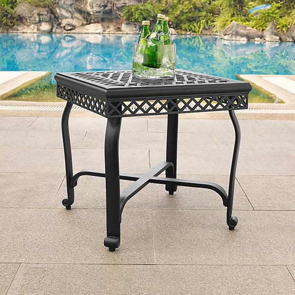 Crosley Portofino Cast Aluminum Patio Side Table Jcpenney