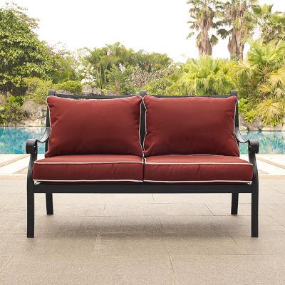 Crosley Portofino Cast Aluminum Patio Lounge Chair