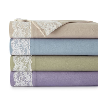 Micro flannel® Lace Edge Sheet Set