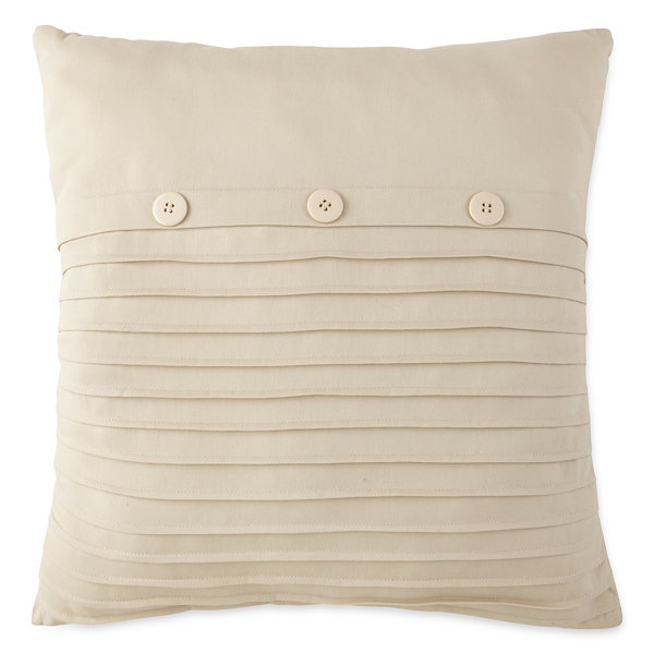 Home Expressions Loden Pleated Square Decorative Pillow