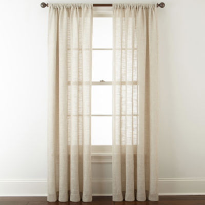 JCPenney Home Sydney Rod-Pocket Curtain Panel