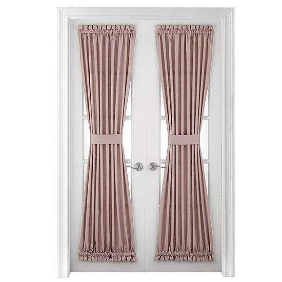 royal velvet supreme rod pocket lined door panel jcpenney. Black Bedroom Furniture Sets. Home Design Ideas