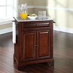 Chatham Small Granite-Top Portable Kitchen Island