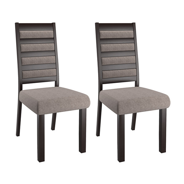 Bistro Ladder Back Dining Chairs Set Of 2