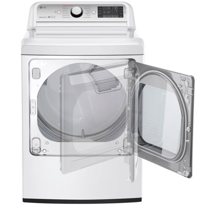 LG ENERGY STAR® 7.3 cu.ft. Ultra-Large Electric Turbo Steam™ Dryer with Steam Sanitary™
