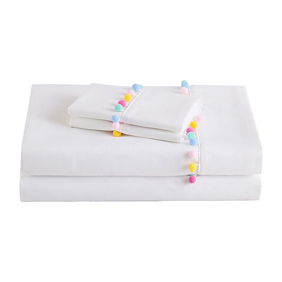 Frank And Lulu Pom Pom Microfiber Easy Care Sheet Set Not Applicable