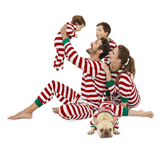 North Pole Trading Co. Red and White Stripe Family Pajamas