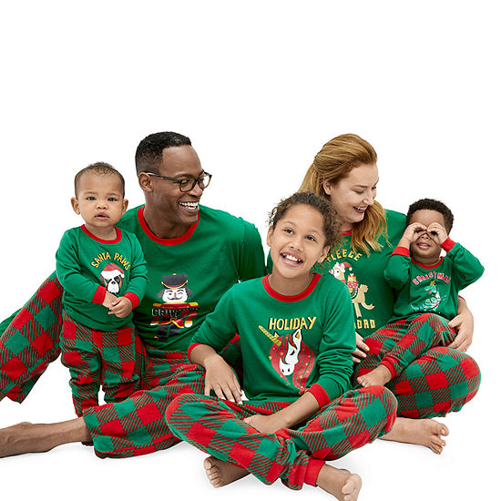 Sleepy Nites Red and Green Buffalo Check Family Pajamas