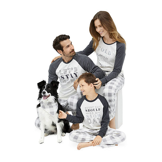 Holiday #Famjams Grey and Black Buffalo Family Pajamas