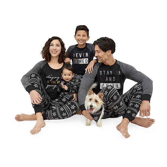 Holiday #Famjams Black Fairisle Foil Family Pajamas