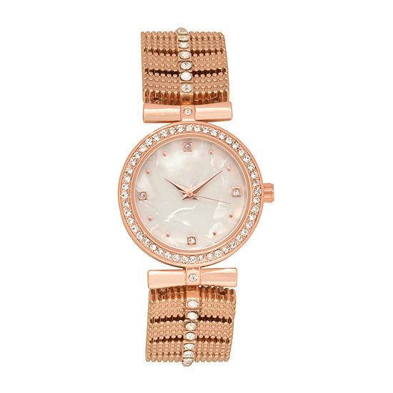 Geneva Womens Rose Goldtone Bracelet Watch Wac2050jc