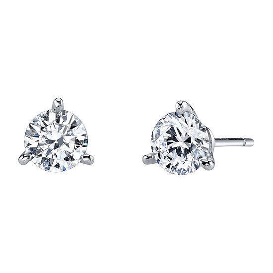 DiamonArt® Cubic Zirconia 1½ CT. T.W. Stud Earrings