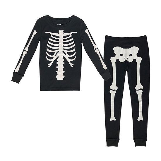 Skeleton Kids Family Little & Big Unisex 2-pc. Halloween Pajama Set