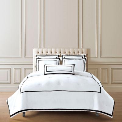 Hotel Inserted Flange 3-pc. Midweight Embellished Comforter Set