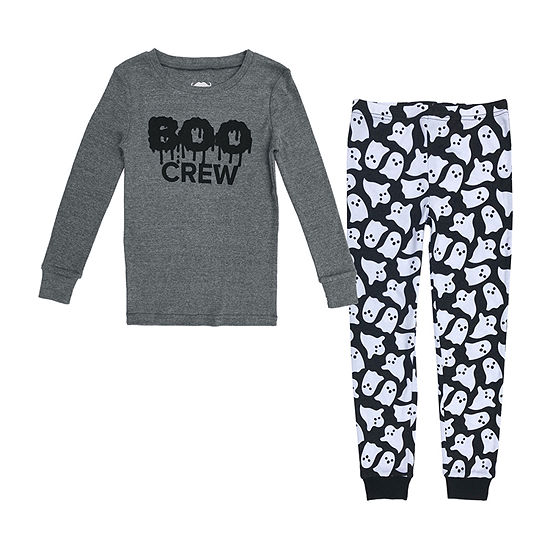 Boo Kids Family Little & Big Unisex 2-pc. Halloween Pajama Set