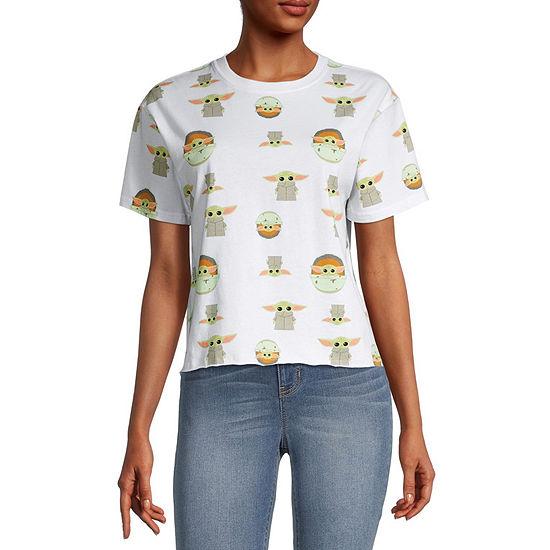 Juniors Womens Crew Neck Short Sleeve Star Wars Graphic T-Shirt