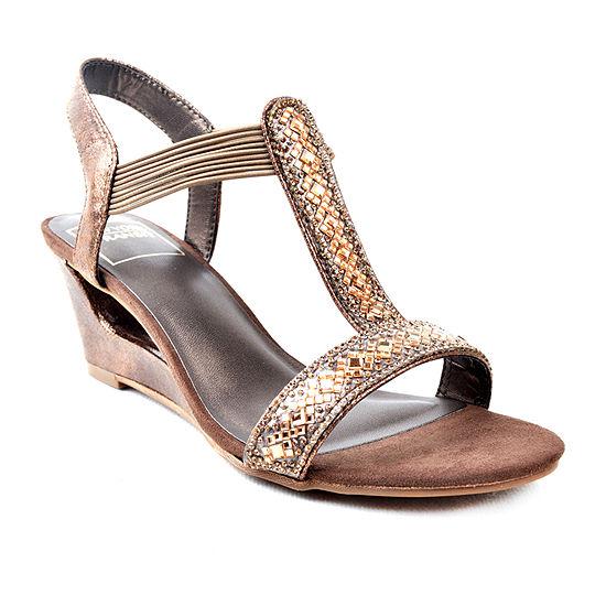 New York Transit Womens Wide Width Funtastic Wedge Sandals