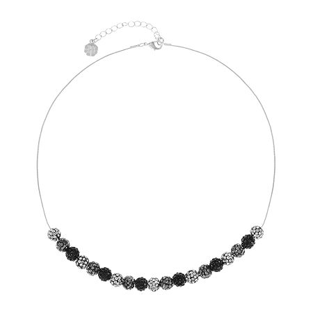 Monet Jewelry 17 Inch Snake Collar Necklace, One Size , Black