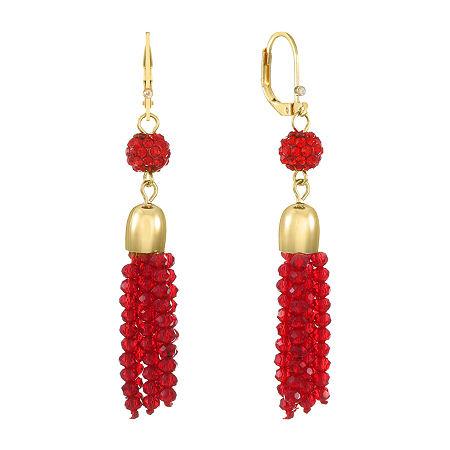 Monet Jewelry Drop Earrings, One Size , Red
