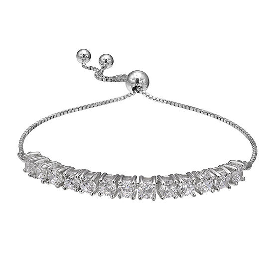 Silver Enchantment™ Cubic Zirconia Sterling Silver Friendship-Style Bracelet
