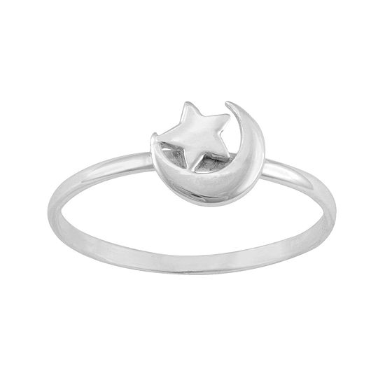 itsy bitsy™ Sterling Silver Moon and Star Ring