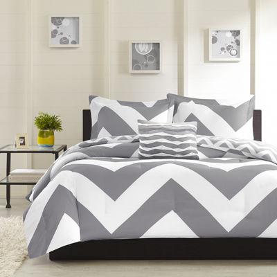 Mi Zone Gemini  Chevron Reversible Comforter Set