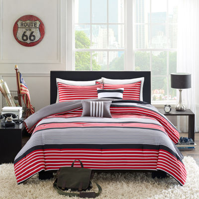Intelligent Design Steven Striped Comforter Set