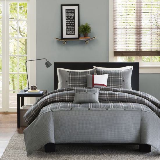 Intelligent Design Campbell Plaid Duvet Cover Set