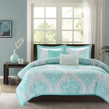 Intelligent Design Lilly Damask Duvet Cover Set