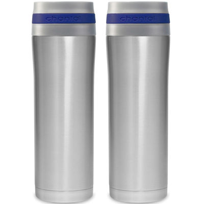 stainless steel travel mug set