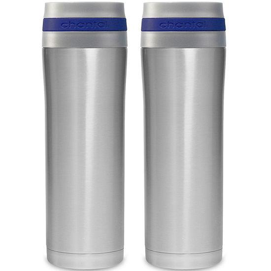 Chantal® 2-pc. 15-oz. Stainless Steel Travel Mug Set
