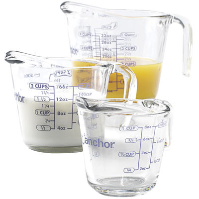 Anchor Hocking Company™ 3-pc. Glass Measuring Cup Set