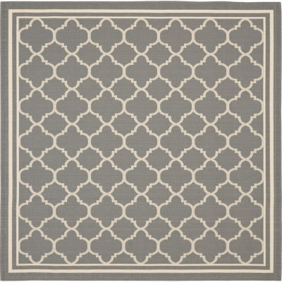 Safavieh Courtyard Collection Crispian Geometric Indoor/Outdoor Square Area Rug