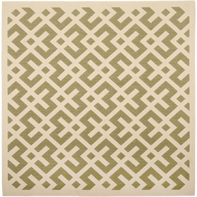 Safavieh Courtyard Collection Darrin Geometric Indoor/Outdoor Square Area Rug