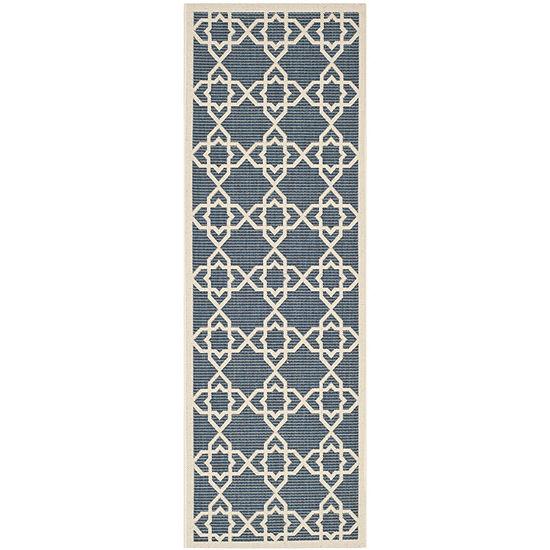 Safavieh Courtyard Collection Nicol Geometric Indoor/Outdoor Runner Rug