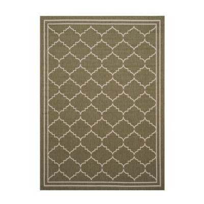 Safavieh Courtyard Collection Skin Geometric Indoor/Outdoor Area Rug