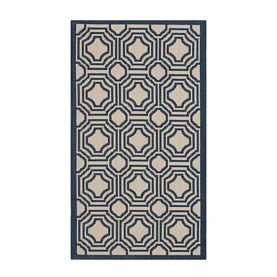 Safavieh Courtyard Collection Torma Geometric Indoor/Outdoor Area Rug