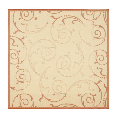 Safavieh Courtyard Collection Torvald Oriental Indoor/Outdoor Square Area Rug