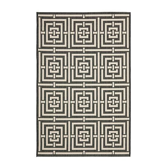 Safavieh Courtyard Collection Varvara Geometric Indoor/Outdoor Area Rug