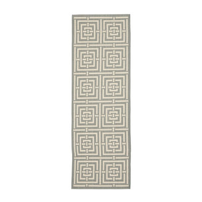 Safavieh Courtyard Collection Varvara Geometric Indoor/Outdoor Runner Rug