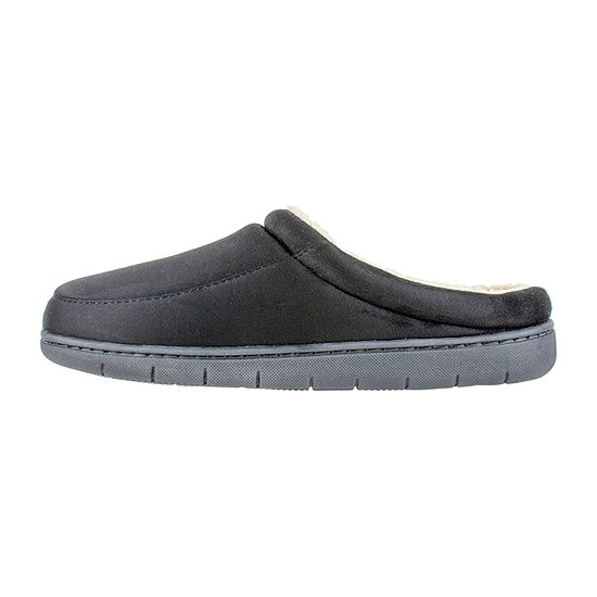 Stafford® Wide Width Microsuede Clog Slipper